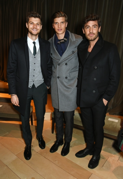 jim-chapman-toby-huntington-whiteley-and-robert-konjic-wearing-burberry-at-the-burberry-menswear-january-2016-show