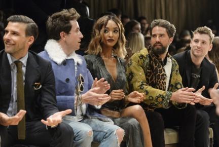 johannes-huebl-nick-grimshaw-jourdan-dunn-jack-guinness-and-george-barnett-at-the-burberry-menswear-january-2016-show