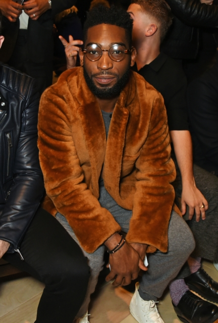 tinie-tempah-wearing-burberry-at-the-burberry-menswear-january-2016-show
