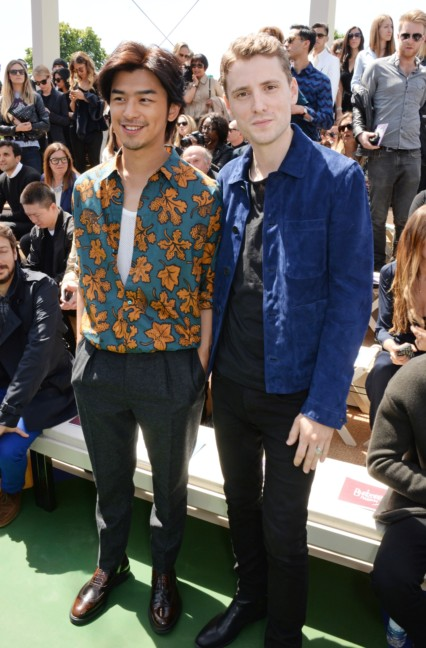 bolin-chen-and-george-barnett-at-the-burberry-prorsum-menswear-spring_summer-2015-show