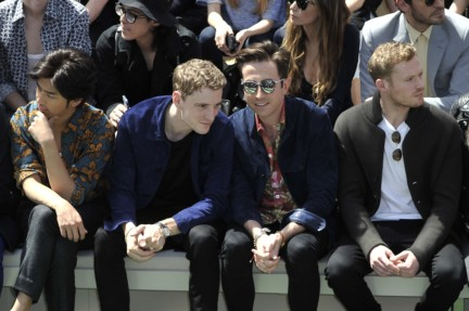 bolin-chen-george-barnett-nick-grimshaw-and-sam-reid-at-the-burberry-prorsum-menswear-spring_summer-2015-show