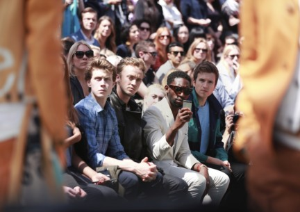 george-mackay-sam-reid-tinie-tempah-and-greg-james-at-the-burberry-prorsum-spring-summer-2015-show