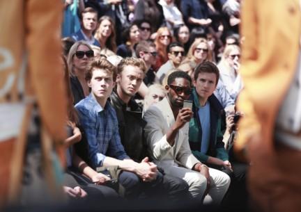george-mackay-sam-reid-tinie-tempah-and-greg-james-at-the-burberry-prorsum-spring-summer-2015-show