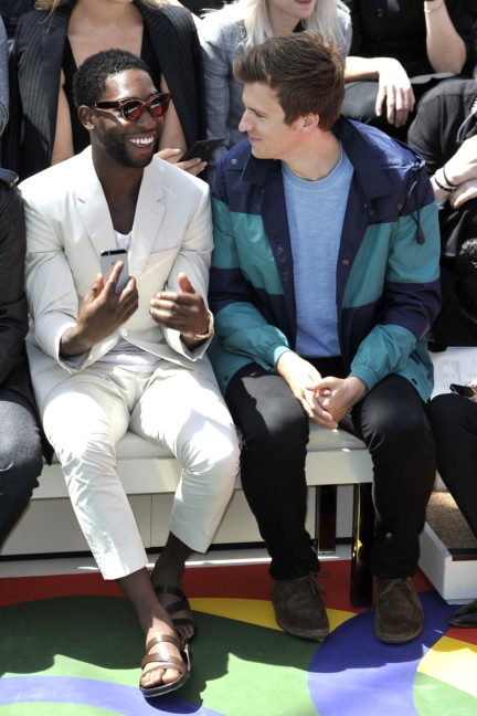 tinie-tempah-and-greg-james-at-the-burberry-prorsum-menswear-spring_summer-2015-show