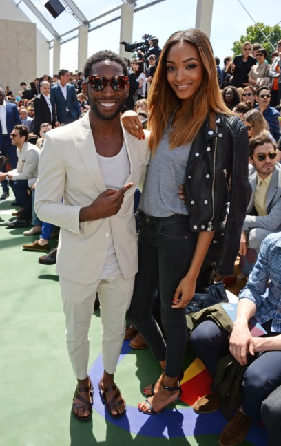 tinie-tempah-and-jourdan-dunn-at-the-burberry-prorsum-menswear-spring_summer-2015-show