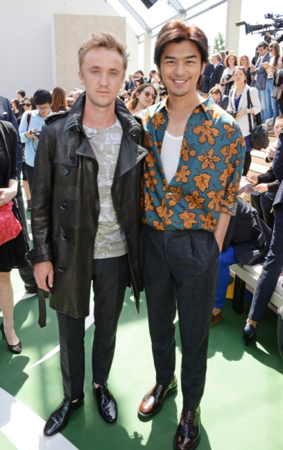 tom-felton-and-bolin-chen-at-the-burberry-prorsum-menswear-spring-summer-2015-show