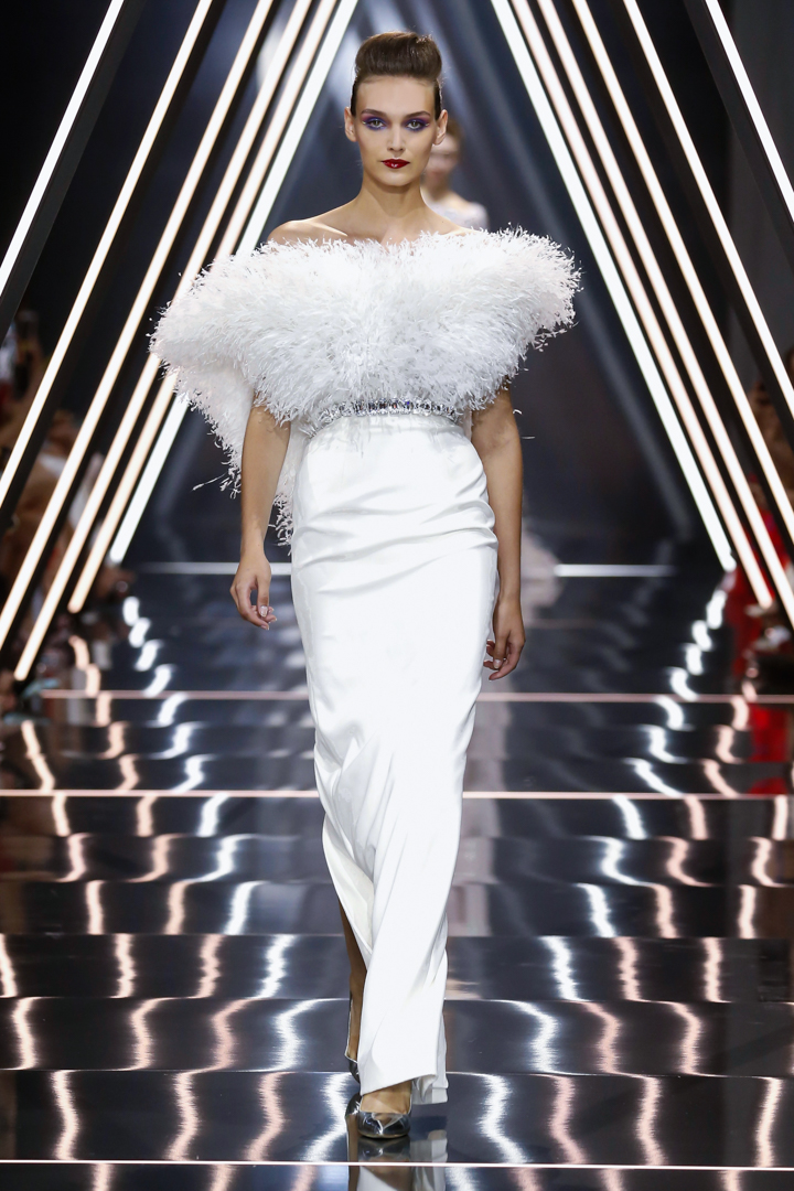 A model walks the runway during the Ralph & Russo Haute Couture Fall/Winter 2016-2017 show as part of Paris Fashion Week on July 4, 2016 in Paris, France.