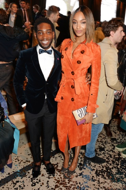 jourdan-dunn-and-tinie-tempah-wearing-burberry-at-the-burberry-prorsum-autumn_winter-2015-sho_001