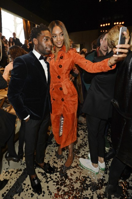 jourdan-dunn-and-tinie-tempah-wearing-burberry-at-the-burberry-prorsum-autumn_winter-2015-sho_002
