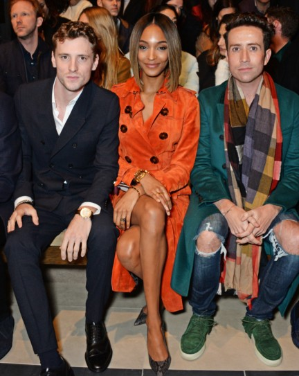 jourdan-dunn-george-barnett-and-nick-grimshaw-on-the-front-row-at-the-burberry-prorsum-autumn_winter-2015-show