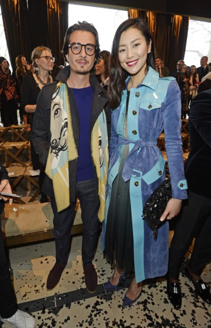 liu-wen-and-al-mustafa-wearing-burberry-at-the-burberry-prorsum-autumn_winter-2015-show