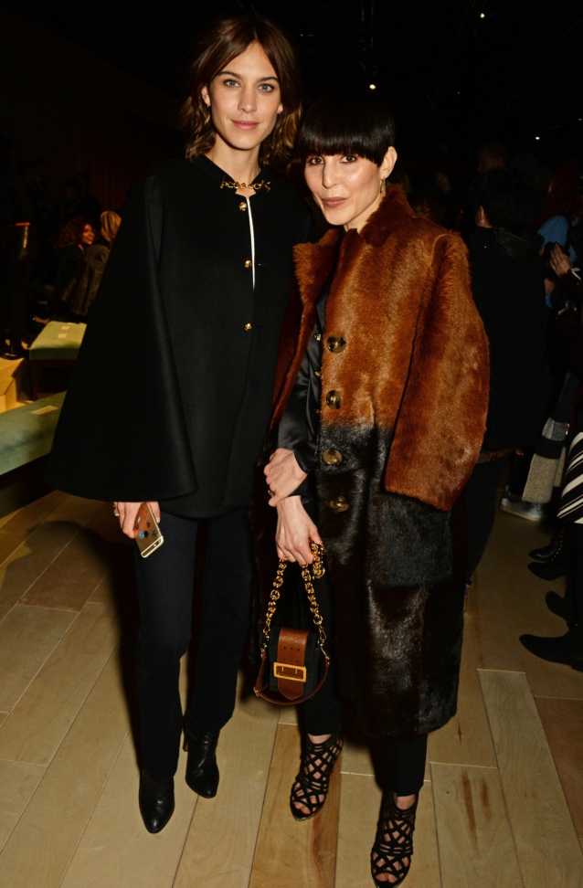 alexa-chung-and-noomi-rapace-wearing-burberry-at-the-burberry-womenswear-february-2016-show