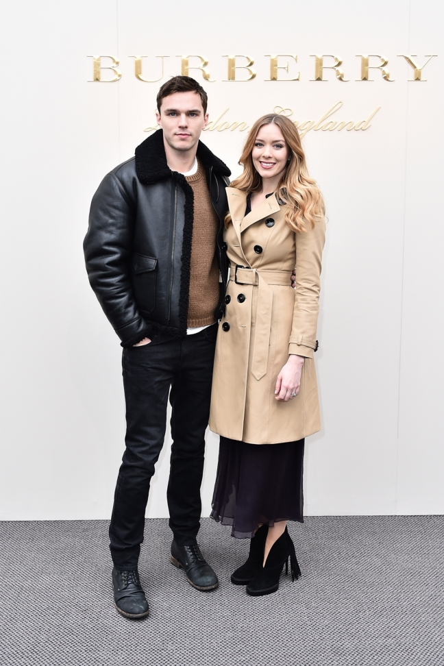 nicholas-hoult-wearing-burberry-at-the-burberry-womenswear-february-2016-show