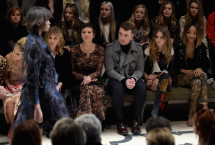 clemence-poesy-maggie-gyllenhaal-sam-smith-cara-delevingne-and-jourdan-dunn-on-the-front-row-of-the-burberry-womenswear-autumn_winter-2015-show