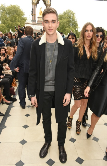 gabriel-day-lewis-wearing-burberry-at-the-burberry-womenswear-s_s16-show