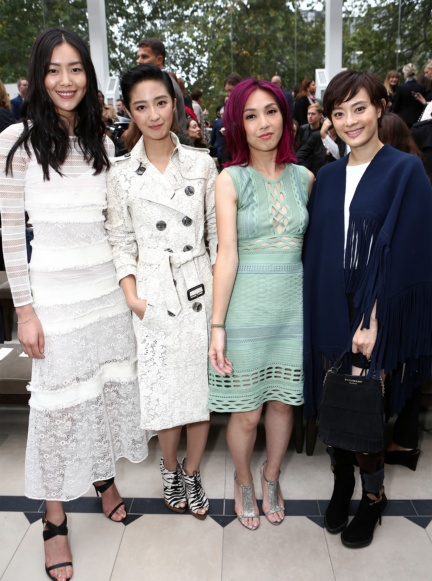liu-wen-guey-lun-mei-miriam-yeung-and-sun-li-at-the-burberry-womenswear-s_s16-show