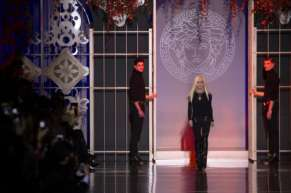 Donatella Versace Milan Fashion Week Autumn/Winter 2014