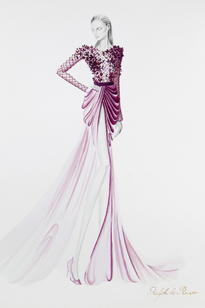 Ralph & Russo AW14 Illustration