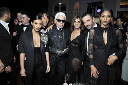 Kim Kardashian & Stephen Gan & Karl Lagerfeld & Carine Roitfeld & Riccardo Tisci &  Ciara