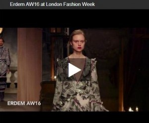 Erdem London Fashion Week AW 16