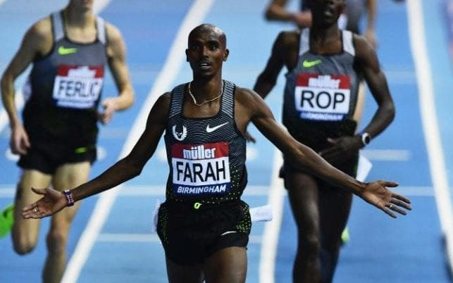 Sir Mo Farah Wins 5,000 M at Birmingham Grand Prix
