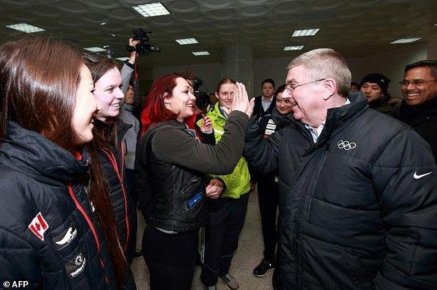 IOC President Thomas Bach Praises Progress at Olympic Village PyeongChang