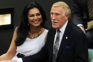 Sir Bruce Forsyth With His Wife Wilnelia