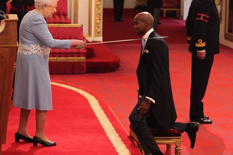 Mo Farah Received Knighthood From The Queen 2