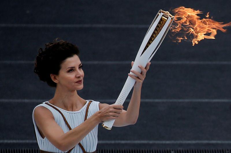 Flame Handover Ceremony For Pyeongchang 2018 Olympics