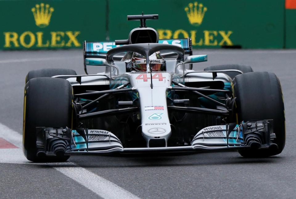 Lewis Hamilton In His Car