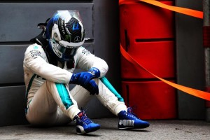 Valtteri Botas Was Close To Victory But Ran Over Some Debris On The Track