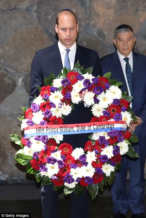Prince William Lays A Wreath At Jerusalem Holocaust Memorial Yad Vashem