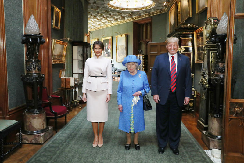 The Queen, President Trump & First Lady Melania Trump